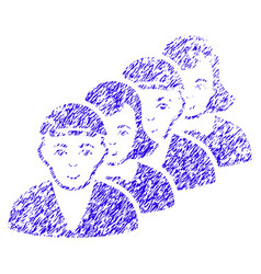 people queue icon grunge watermark vector image