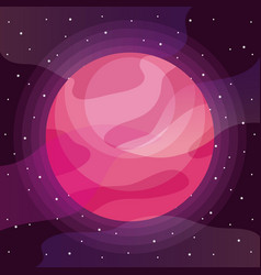 planet space universe icon vector image