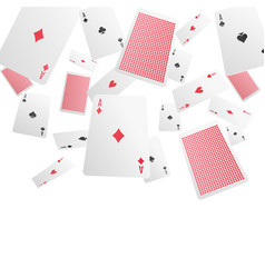 Playing cards realistic background vector