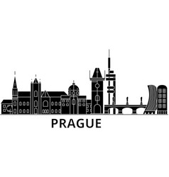 prague architecture city skyline travel vector image