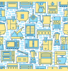 Professional kitchen equipment seamless pattern in vector