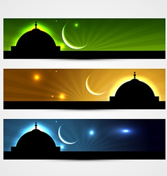 ramadan and eid headers vector image