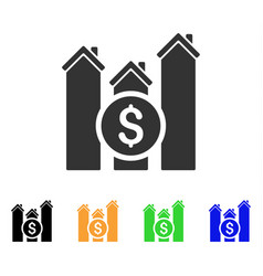 realty price charts icon vector image