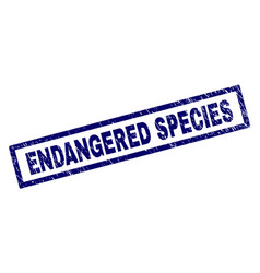 Rectangle grunge endangered species stamp vector