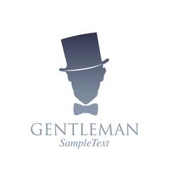retro style emblem silhouette a gentleman vector image