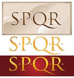 romans symbol vector image