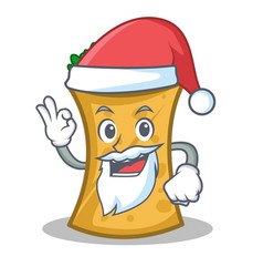 Santa kebab wrap character cartoon vector