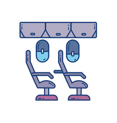 seats cabine airplane travel aviation transport vector image