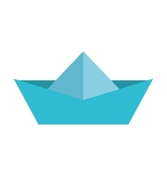 Ship boat paper toy icon vector