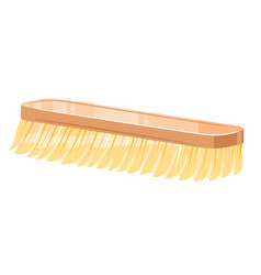 Shoe brush isolated vector