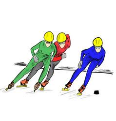 short track vector image