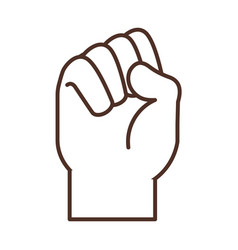 Sign language hand gesture indicating s letter vector