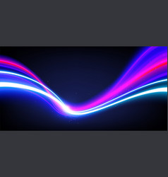 slow shutter light trails effect vector image