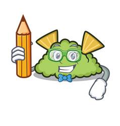 Student guacamole character cartoon style vector