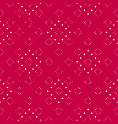 subtle red and white minimalist dotted pattern vector image