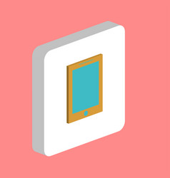 tablet computer symbol vector image