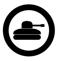 tank icon black color simple image vector image