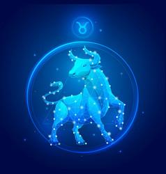 Taurus zodiac sign icons vector