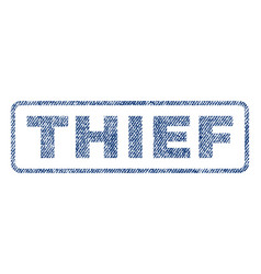 Thief textile stamp vector