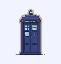 Traditional british police box a blue police vector