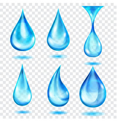 translucent blue drops vector image