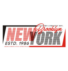 typography design new york for t-shirt print vector image