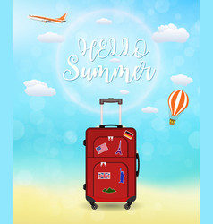 vacation travelling composition vector image