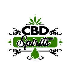 vintage cannabis leaf logo vector image