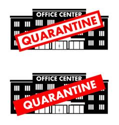 Virus concept quarantine sign on background vector