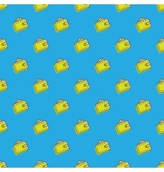 wallet icons seamless pattern Financial vector image