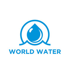 Water logo simple minimalist icon design world vector
