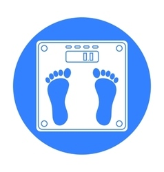 Weighing scale icon in black style isolated on vector