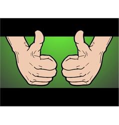 winner hand pose vector image