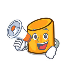 With megaphone rigatoni character cartoon style vector