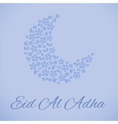 Beautiful greeting card for Eid Mubarak festival vector image