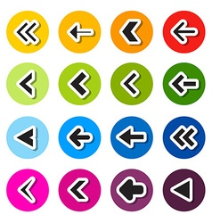 Colorful Circle Arrows Set vector image vector image