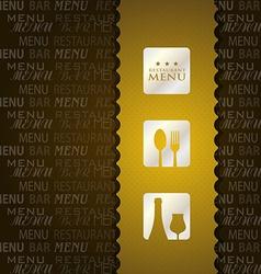 restaurant menu presentation in brown background vector image vector image