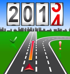 2014 New Year counter vector image vector image