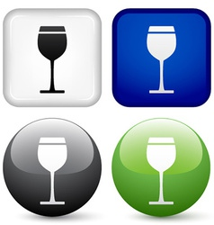 drink buttons vector image vector image