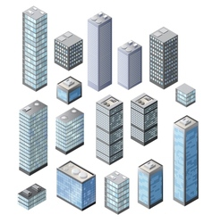 Set of 3d vector image vector image
