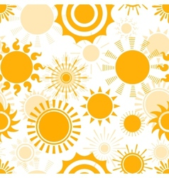 Sunny seamless pattern vector image vector image