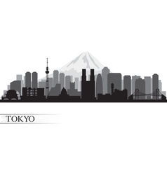 Tokyo City skyline detailed silhouette vector image vector image