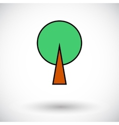 Tree icon vector image vector image