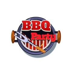 BBQ Sticker vector image vector image