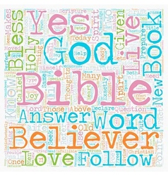 Can Society Live By The Bible Today text vector image vector image