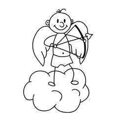 cute cupid in cartoon style icon vector image