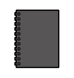 grey notebook cartoon vector image vector image