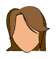 head female hairstyle modern character vector image vector image