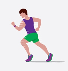 Speedy Male Runner vector image vector image