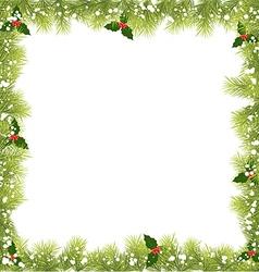 Christmas Fir Tree Branch Frame vector image